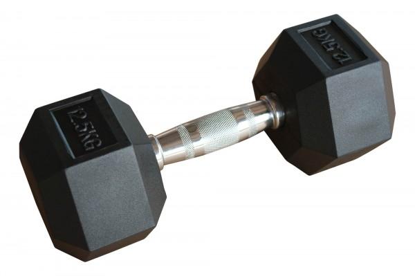 Hex Dumbbell SQMIZE® HDBR12.5 gummiert, 12,5kg