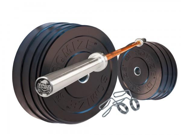 Bumper Plate Langhantelset SQMIZE® BBS100 Training, 120 kg