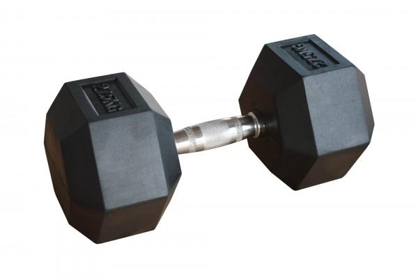 Hex Dumbbell SQMIZE® HDBR27.5 gummiert, 27,5 kg