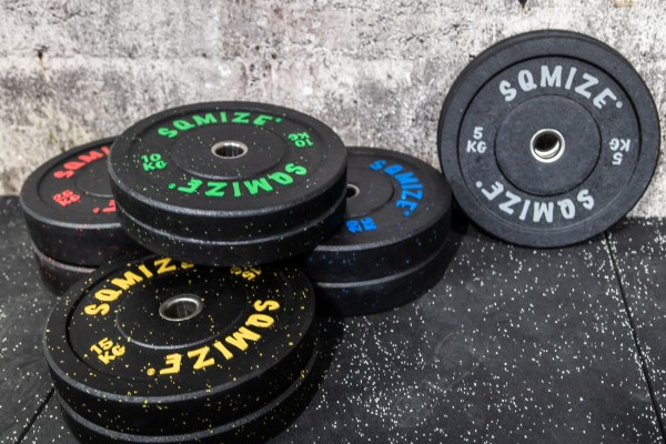 High-Tempered Bumper Plate Set SQMIZE® CRBP-C150, 150kg, colorcoded