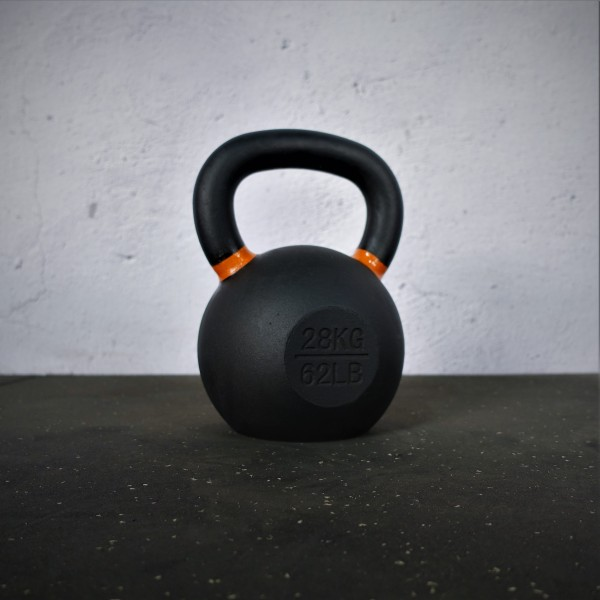 Black Kettlebell SQMIZE® BFK28 farbcodiert, 28 kg, orange