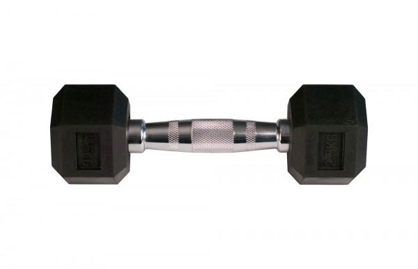 Hex Dumbbell SQMIZE® HDBR2.5 gummiert, 2,5 kg