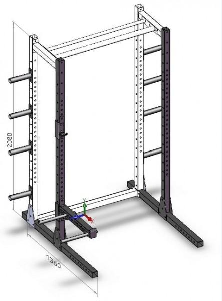 Plate Storage Half Rack SQMIZE® SQ580PS