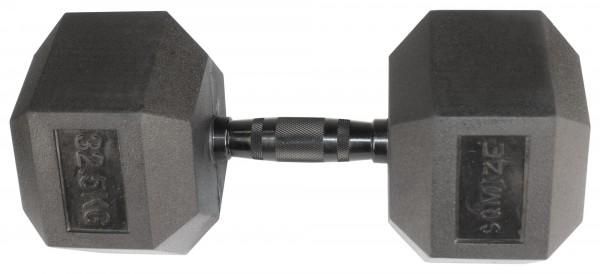 Hex Dumbbell SQMIZE® HDBR-Z32.5 Black Zinc
