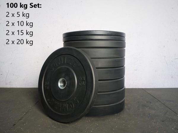 Bumper Plate Set SQMIZE® BBP100 Training, 100 kg