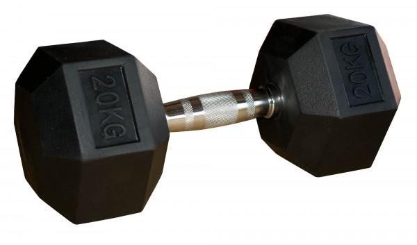 Hex Dumbbell SQMIZE® HDBR20 gummiert, 20kg