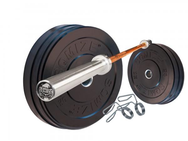 Bumper Plate Langhantelset SQMIZE® BBS60 Advanced, 80 kg