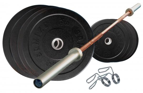 Crump Bumper Plate Langhantelset SQMIZE® CRBS100 Training, 120 kg