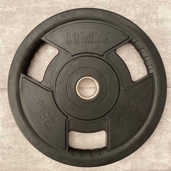 Olympia Hantelscheibe SQMIZE® OPRD25 gummiert, 25 kg