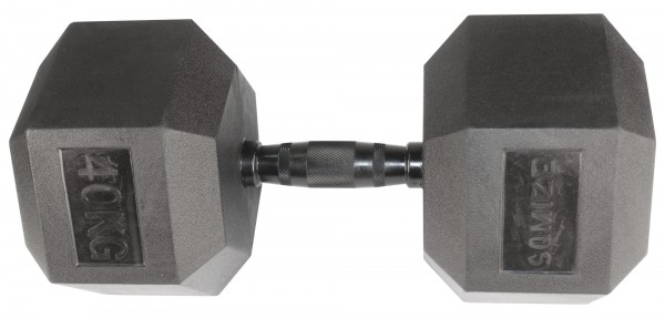 Hex Dumbbell SQMIZE® HDBR-Z40 Black Zinc