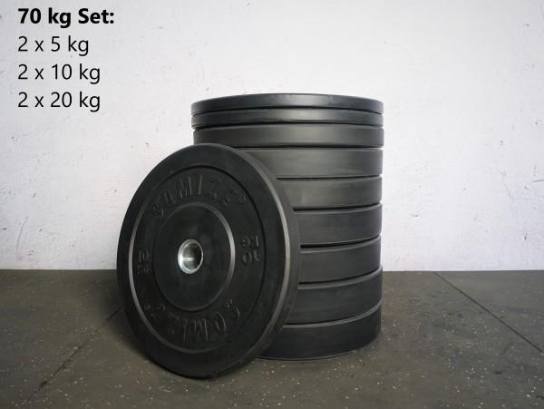 Bumper Plate Set SQMIZE® BBP70 Training, 70 kg
