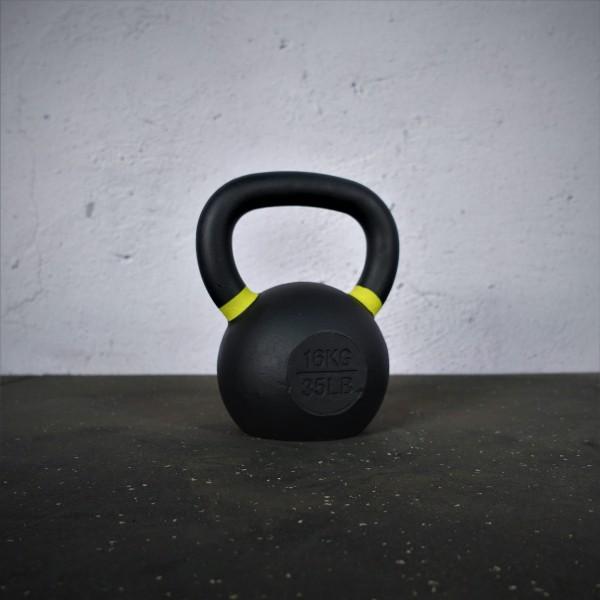 Black Kettlebell SQMIZE® BFK16 farbcodiert, 16 kg, gelb
