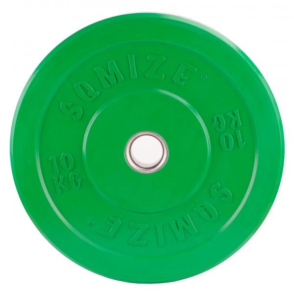 Bumper Plate SQMIZE® CBP10 Training - 10 kg, grün