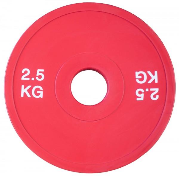 Fractional Plate SQMIZE® TP2.50, rot gummiert