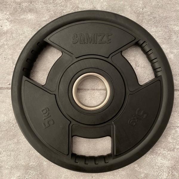 Olympia Hantelscheibe SQMIZE® OPRD5 gummiert, 5 kg