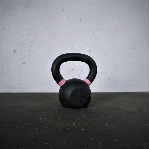 Black Kettlebell SQMIZE® BFK8 farbcodiert, 8 kg, pink
