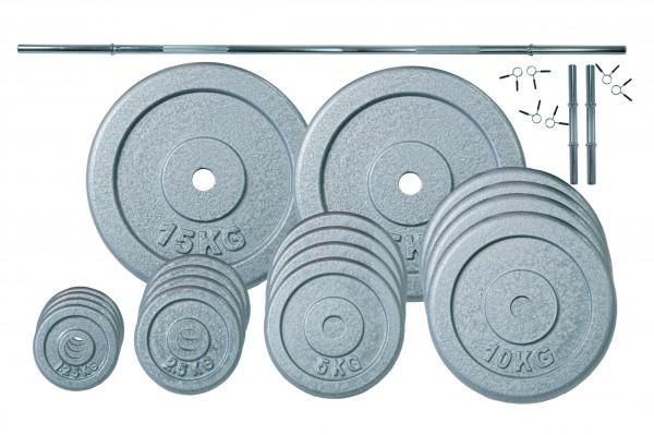 Langhantelset Body-Track® RBS105HT, 30 mm - 120 kg
