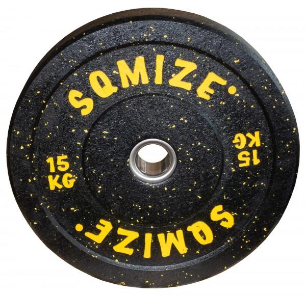 High-Tempered Bumper Plate SQMIZE® CRBP-C15 Training Color, 15 kg