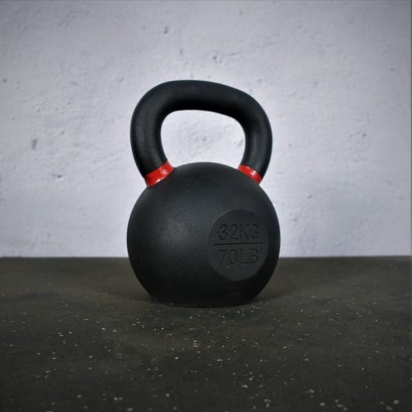 Black Kettlebell SQMIZE® BFK32 farbcodiert, 32 kg, rot