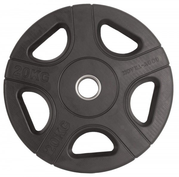 Hantelscheibe Body-Track® OPRB20 Gummi schwarz 50 mm