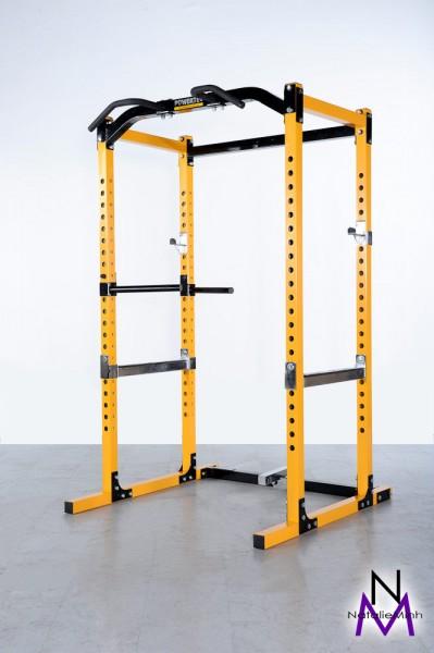 Powertec Power Rack WB-PR16Y, Farben gelb und schwarz