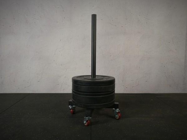 Plate Tower SQMIZE® BS400, 50 mm Hantelscheiben-Trolley
