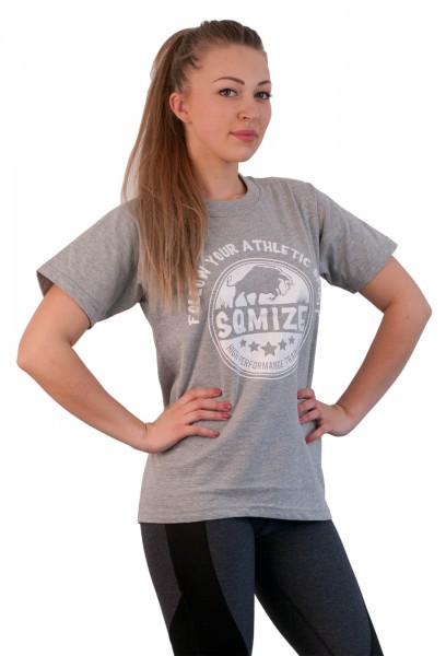 T-Shirt SQMIZE®️ TC200 grey white