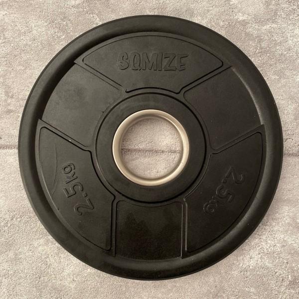 Olympia Hantelscheibe SQMIZE® OPRD2.5 gummiert, 2,5 kg