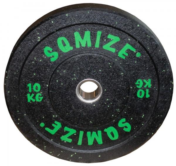 High-Tempered Bumper Plate SQMIZE® CRBP-C10 Training Color, 10 kg