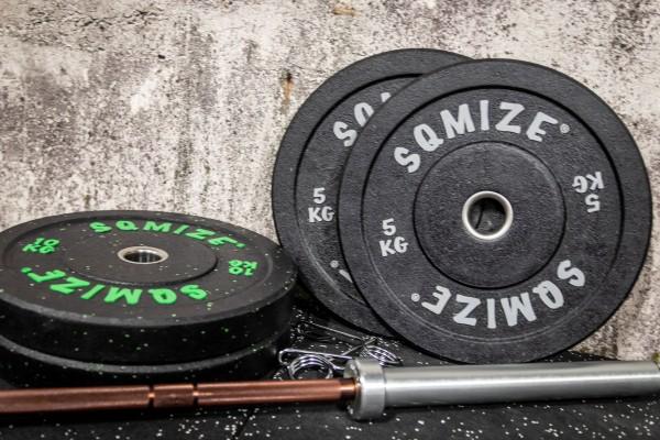 High-Tempered Bumper Plate Langhantelset SQMIZE® CRBS-C30, 50 kg