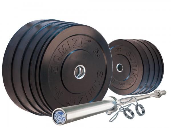Bumper Plate Langhantelset SQMIZE® BBS150 Professional, 170 kg