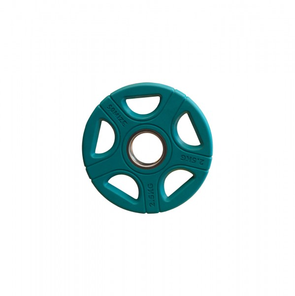 Olympia Hantelscheibe SQMIZE® OPRC2.5 gummiert, blau, 2,5 kg