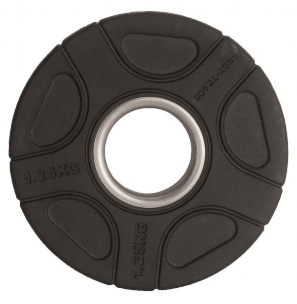 Hantelscheibe Body-Track® OPRB1.25 Gummi schwarz 50 mm