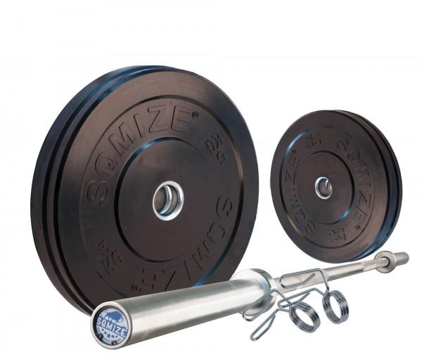Bumper Plate Langhantelset SQMIZE® BBS30 Starter, 50 kg