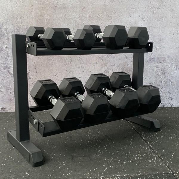 Hex Dumbbell Set mit Rack SQMIZE® SQ210-R75