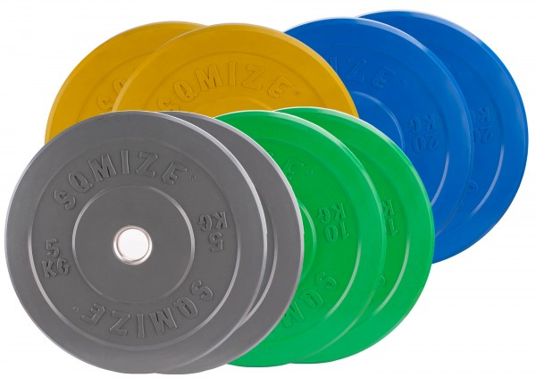 Bumper Plate Set SQMIZE® CBP100 Training - 100 kg