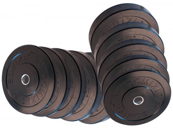 Bumper Plate Set SQMIZE® BBP150 Training, 150 kg
