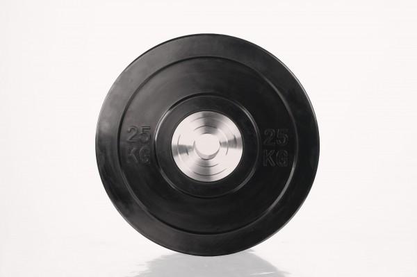 Bumper Plate SQMIZE® BBPS25 Training 2.0, schwarz - 25 kg