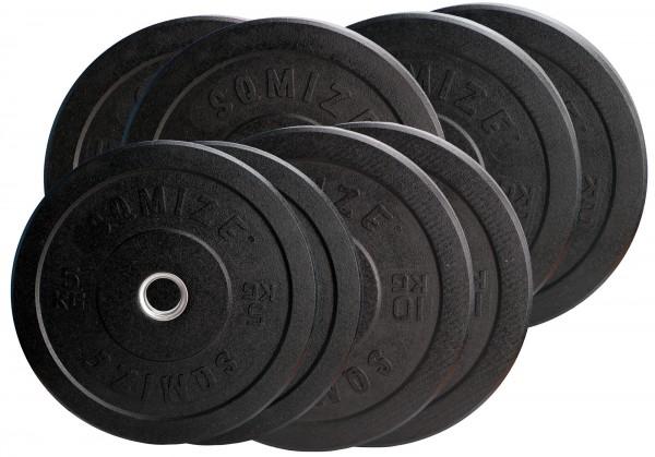 Crump Bumper Plate Set SQMIZE® CRBP100 Training, 100 kg, High-Tempered