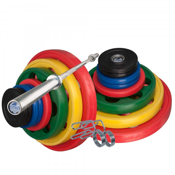Olympia Langhantelset Body-Track® DB360, 145 kg, 7-Loch Design