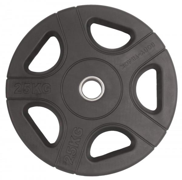 Hantelscheibe Body-Track® OPRB25 Gummi schwarz 50 mm