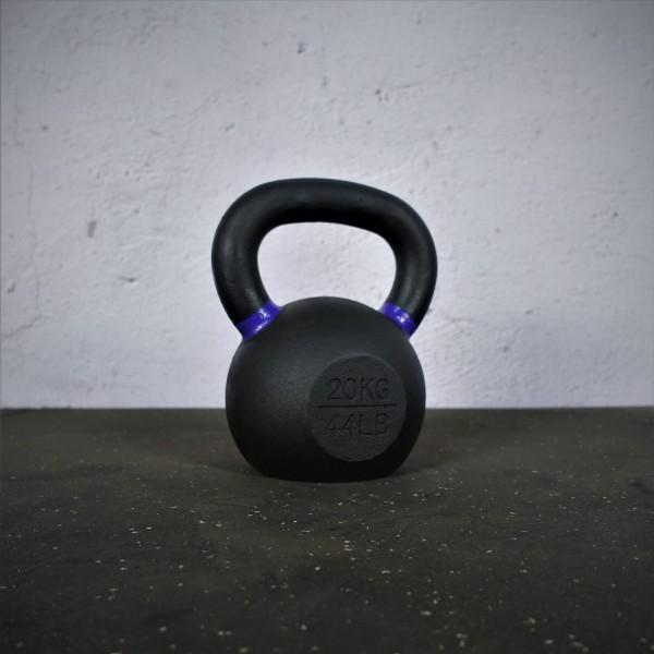 Black Kettlebell SQMIZE® BFK20 farbcodiert, 20 kg, violet