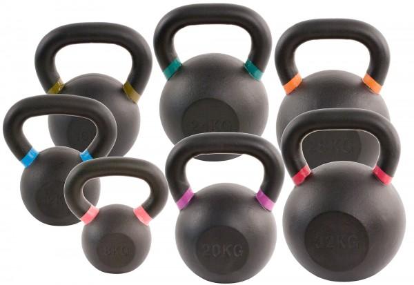 Black Kettlebell Set SQMIZE® BFK140, 140 kg farbcodiert