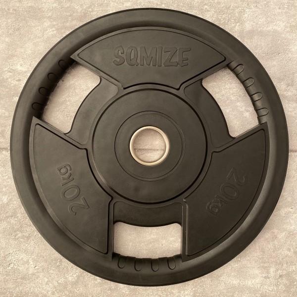Olympia Hantelscheibe SQMIZE® OPRD20 gummiert, 20 kg
