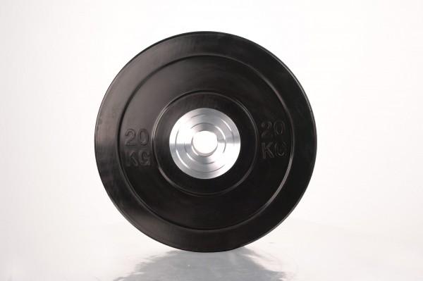 Bumper Plate SQMIZE® BBPS20 Training 2.0, schwarz - 20 kg