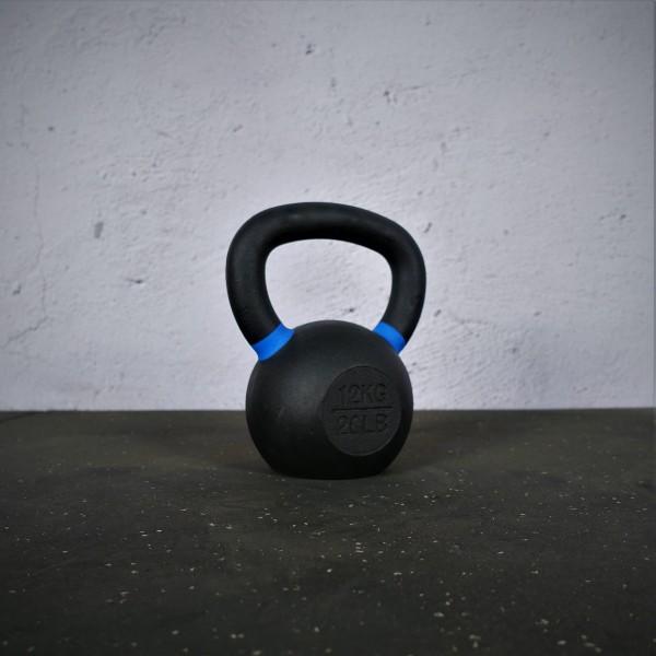 Black Kettlebell SQMIZE® BFK12 farbcodiert, 12 kg, blau