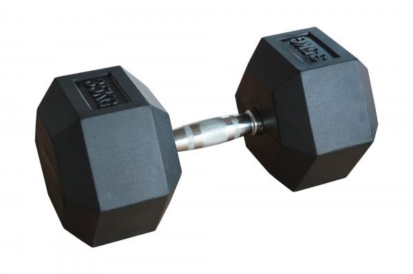 Hex Dumbbell SQMIZE® HDBR35, gummiert, 35 kg