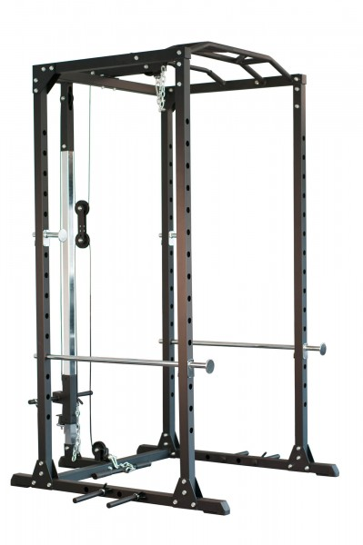 Profi Power Rack newfitness® NE700A mit Latzugstation, Neues Modell
