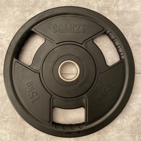Olympia Hantelscheibe SQMIZE® OPRD15 gummiert, 15 kg