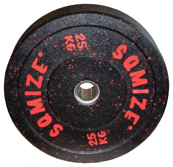 High-Tempered Bumper Plate SQMIZE® CRBP-C25 Training Color, 25 kg